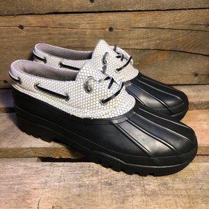 Sperry Top Sider Black Rubber Waterproof Duck Boot